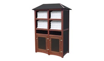 Black Forest Hampton Double Towel Station