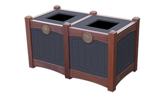 Black Forest Luxury Double 15 Gallon Waste Enclosure