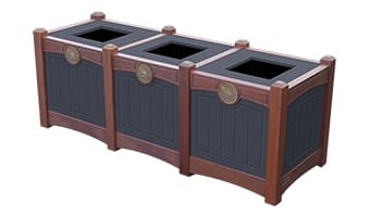 Black Forest Luxury Triple 15 Gallon Waste Enclosure