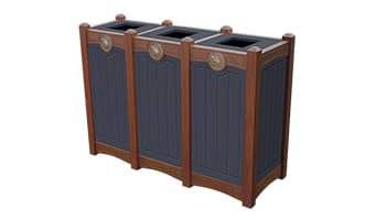 Black Forest Luxury Triple 18 Gallon Waste Enclosure