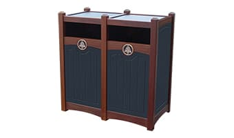Black Forest Luxury Double 26 Gallon Waste Enclosure