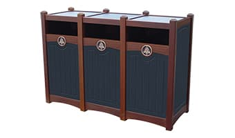 Black Forest Luxury Triple 26 Gallon Waste Enclosure