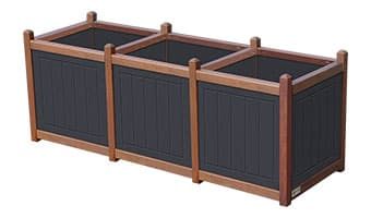 Black Forest Original Triple Planter Box