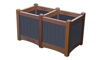 Black Forest Hampton Double Planter Box