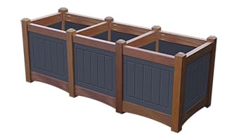 Black Forest Hampton Triple Planter Box