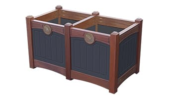 Black Forest Luxury Double Planter Box