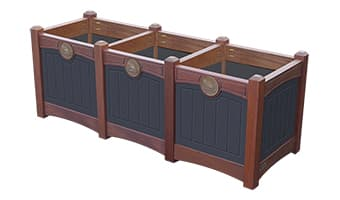 Black Forest Luxury Triple Planter Box