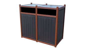 Black Forest Original Double 55 Gallon Waste Enclosure