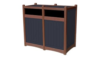 Black Forest Hampton Double 55 Gallon Waste Enclosure