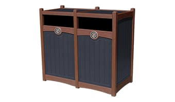 Black Forest Luxury Double 55 Gallon Waste Enclosure