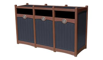 Black Forest Luxury Triple 55 Gallon Waste Enclosure