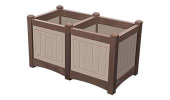 EasyCare Hampton Double Planter Box