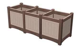 EasyCare Hampton Triple Planter Box