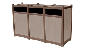 EasyCare Hampton Triple 55 Gallon Waste Enclosure