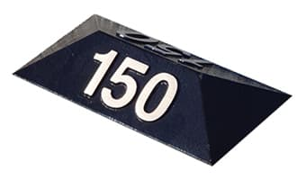Cast Metal Prism Cart Path Markers