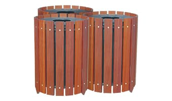 Rinowood Round Triple 20 Gallon Waste Enclosure