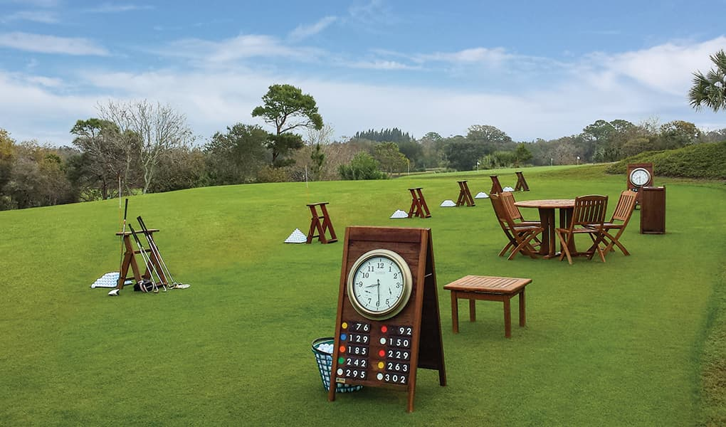 Target Greens Sign with Clock | RW225-CLK18