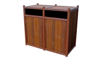 Rinowood Original Double 55 Gallon Waste Enclosure