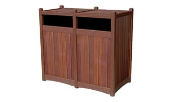 Rinowood Hampton Double 55 Gallon Waste Enclosure