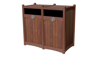 Rinowood Luxury Double 55 Gallon Waste Enclosure