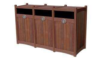 Rinowood Luxury Triple 55 Gallon Waste Enclosure