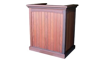 Rinowood Pedestal Top Greeting Podium