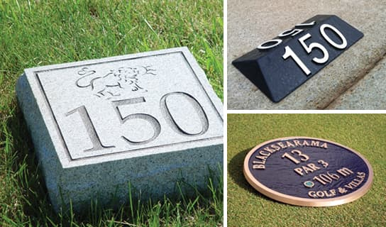custom options for Yardage Markers